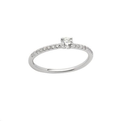 Collier Mini Ever Disc Or rose Diamants