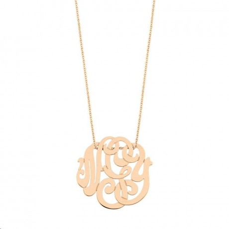 Collier Baby Lace Monogram Or rose COLLIER CBLM002