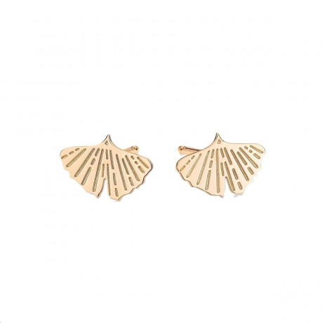 Boucles d'oreilles Gingko Or rose GINETTE NY BOGNK01