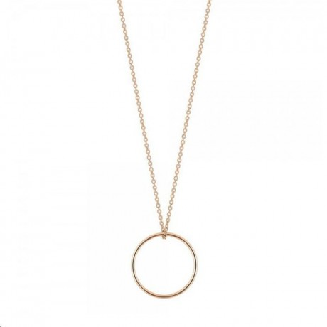 Collier Mini Circle Or rose Ginette NY CCE003