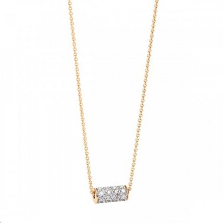 Collier Mini Straw Or rose Diamant Colliers STD