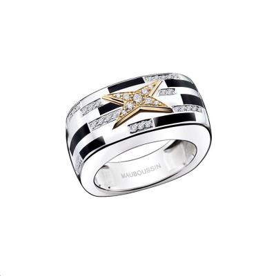 Bague Grain de love Argent Or jaune Diamants