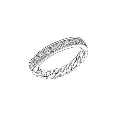 Boucles d'orerilles A Jamais Mon Etoile N°5 Or blanc Diamants blancs