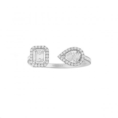 Bague My Twin Or blanc Diamants PM Messika 06471-WG
