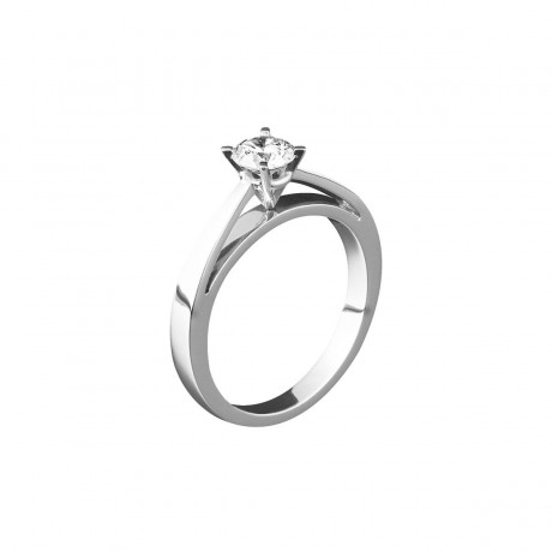 Solitaire New Age Or blanc Diamant 0.70 carat FSI1
