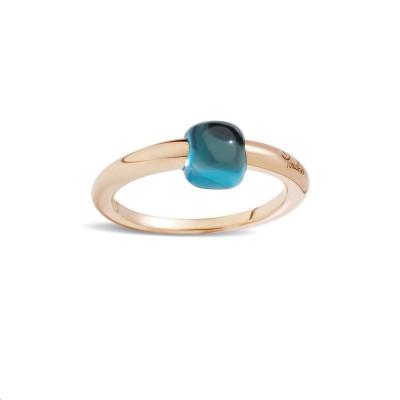 Boucles d'oreilles Or rose Diamants blancs et bruns