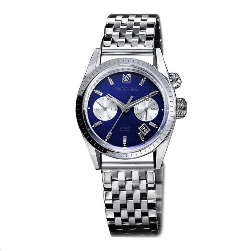 Bague Classique Or blanc Saphir bleu Sélection Alain B1055OV8*6